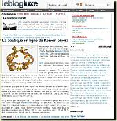 Blog Luxe - March  2008